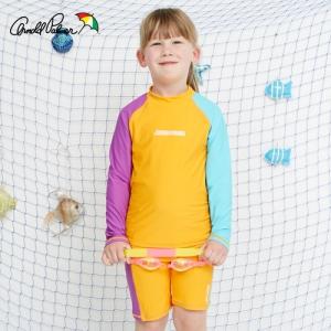 [ARNOLD PALMER] 래쉬가드SET(상하의+수모) 여아수영복(APG-O607C)/아동수영복/아동래쉬가드/비치수영복